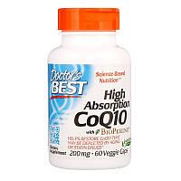 Коэнзим Q10 с BioPerine, 200 мг, Doctor's Best (60 растительных капсул)