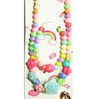 Набір Біжутерії для Дівчинки Різнобарвний Пастельних Тонів: Кольє, Браслетик, фото 3