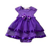 Платье летнее детское для девочки Яркая Фиалка
