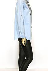 Жіноча сорочка штапель з вишивкою із паєток, фото 3