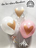 """Воздушные шары """"Золотое сердце"""" 12""""(30 см) пастель ассорти В упак: 100шт ТМ Арт «SHOW»"""