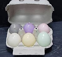 Свеча декоративная у форме яйца микс, фото 1