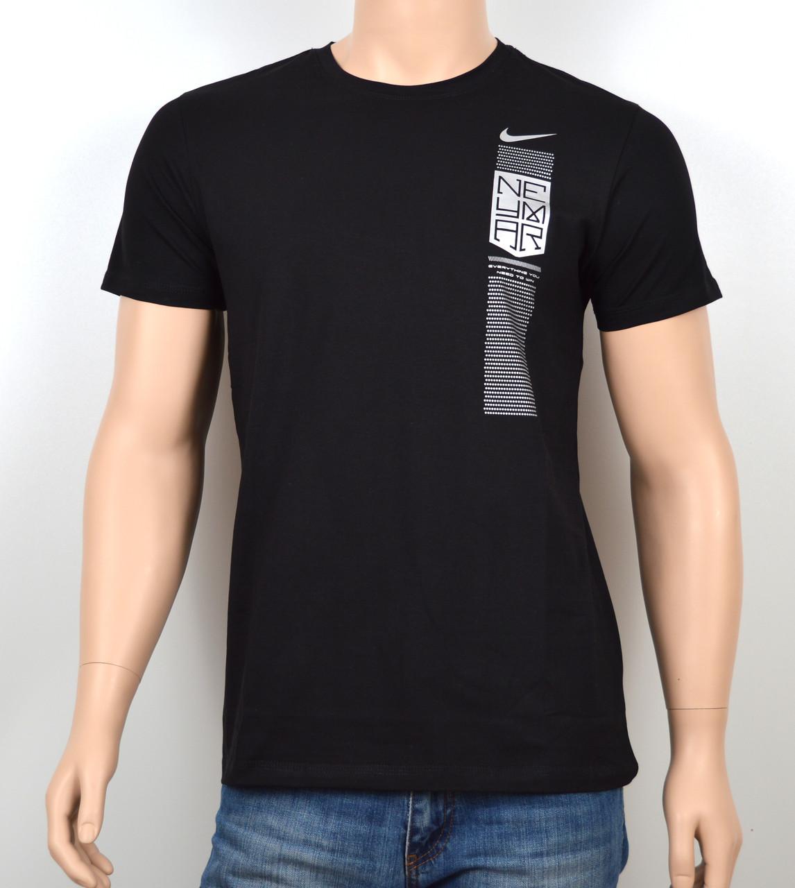 """Мужская футболка """"NIKE-19N03"""" черный"""