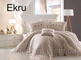 """Постельное бельё с вязаным покрывалом First Choice Nirvana Excellent """"Ekru!"""""""