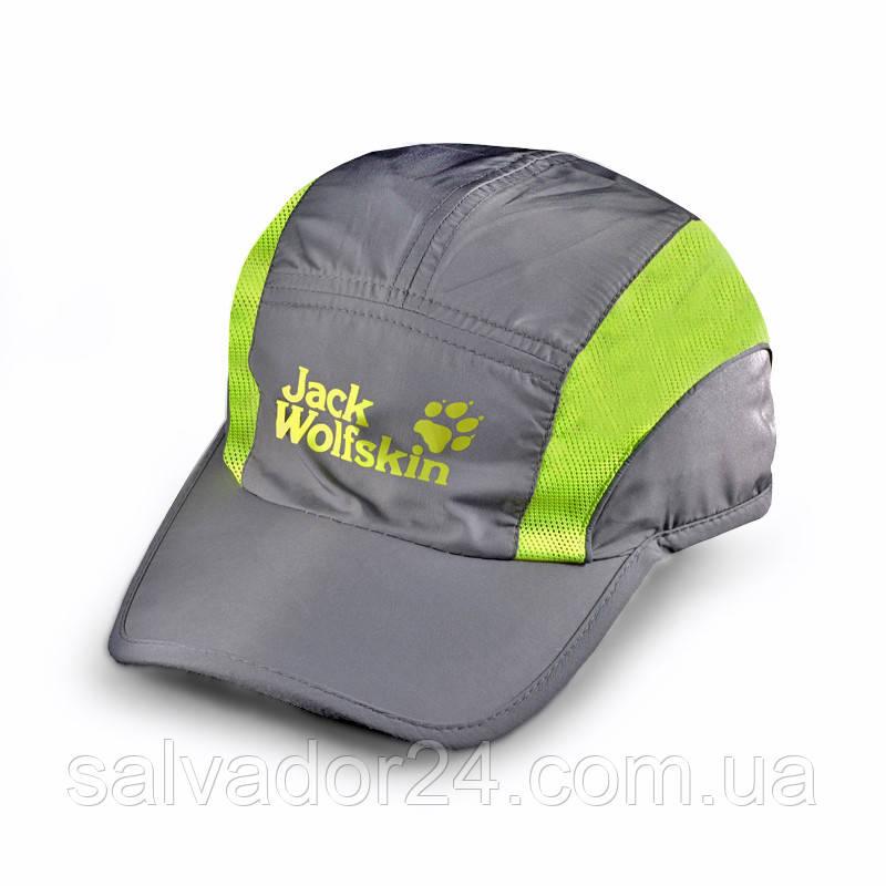 Бейсболка Jack Wolfskin Sport, влагоотталкивающая серая кепка