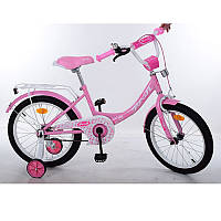 Детский двухколесный велосипед для девочки PROFI 18 дюймов Princessрозовый, Y1811