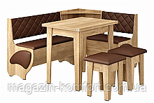 Кухонный комплект Милорд (кухонный угол со столом и табуретками)