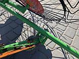 Грабли-ворошилки Солнышко к мотоблоку 4 колеса, фото 2