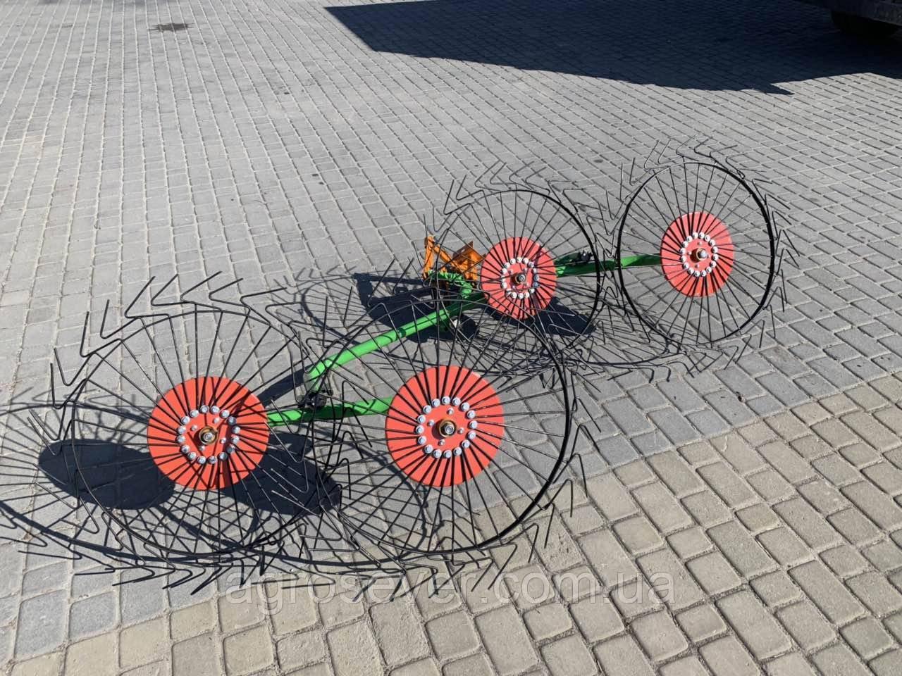 Грабли-ворошилки Солнышко к мотоблоку 4 колеса