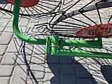 Грабли-ворошилки Солнышко к мотоблоку 4 колеса, фото 3