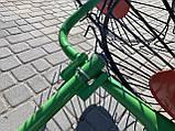 Грабли-ворошилки Солнышко к мотоблоку 4 колеса, фото 4