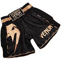 Тайские шорты VENUM GIANT black/gold M, фото 1