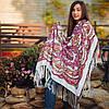 Нежный павлопосадский платок для девушки (120х120 см,  белый, 80%-шерсть)