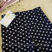 Джинсовые штанишки для девочки в сердечка Five Stars HD0191-98p, фото 3