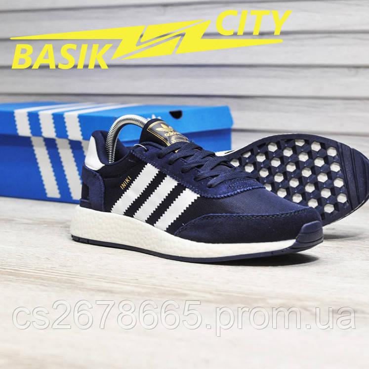 Мужские кроссовки Adidas Iniki Deep Blue