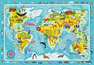 """Пазл обсерваційний """"Мапа світу: тваринки"""". Розвиваюча дитяча гра Dodo, фото 2"""