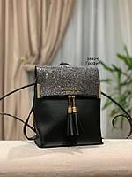 Стильный рюкзак Глиттер,кожзам, фото 9