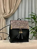 Стильный рюкзак Глиттер,кожзам, фото 8