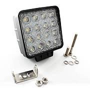 Фара LED прямоугольная 48W, 16 ламп, 110*164мм, узкий луч <ДК>. DKB248WASL Дорожная карта