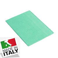 Стоматологические нагрудники салфетки ASA DENTAL (Италия) - 500 шт/уп, зеленые
