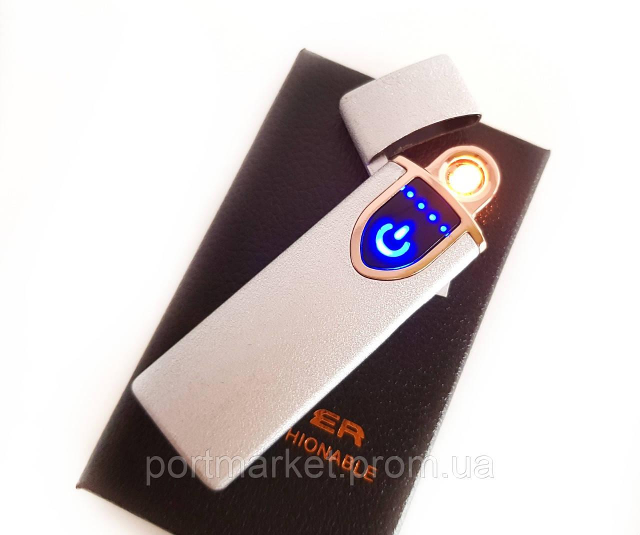 Зажигалка USB сенсорная электроимпульсовая,спиральная.