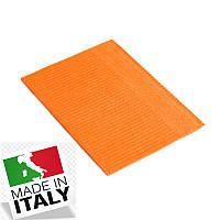 Стоматологические нагрудники салфетки ASA DENTAL (Италия) - 500 шт/уп, оранжевые
