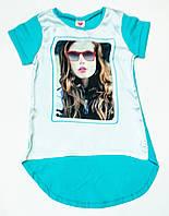Стильная футболка  для девочки  рост 122-146 см, фото 1