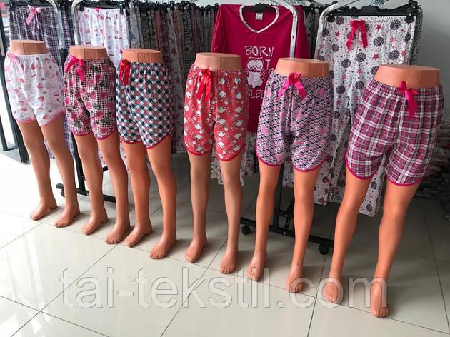 Женские цветные шорты хлопок Турция M,-4XL(48-58р) S-4, фото 2