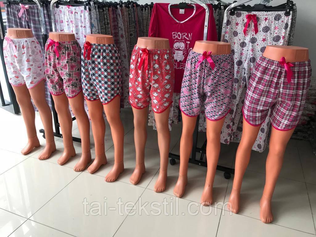 Женские цветные шорты хлопок Турция M,-4XL(48-58р) S-4