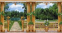 """Фотообои бумажные на стену, 201х388 см """"Версаль"""", фотообои готовые, фотообои природа, 24 листа"""