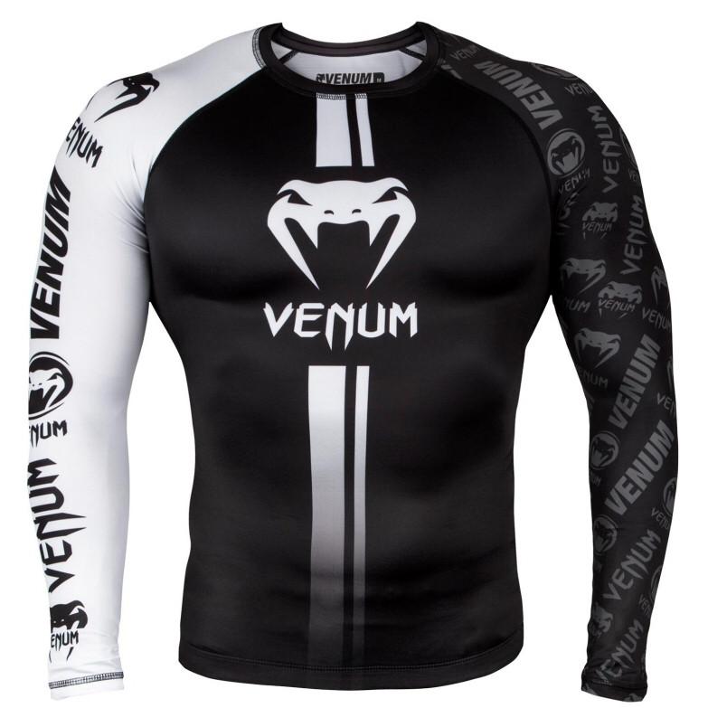 Рашгард Venum Logos Rashguard Black/White S