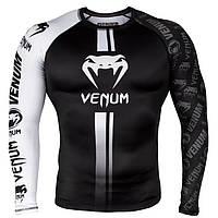 Рашгард Venum Logos Rashguard Black/White S, фото 1