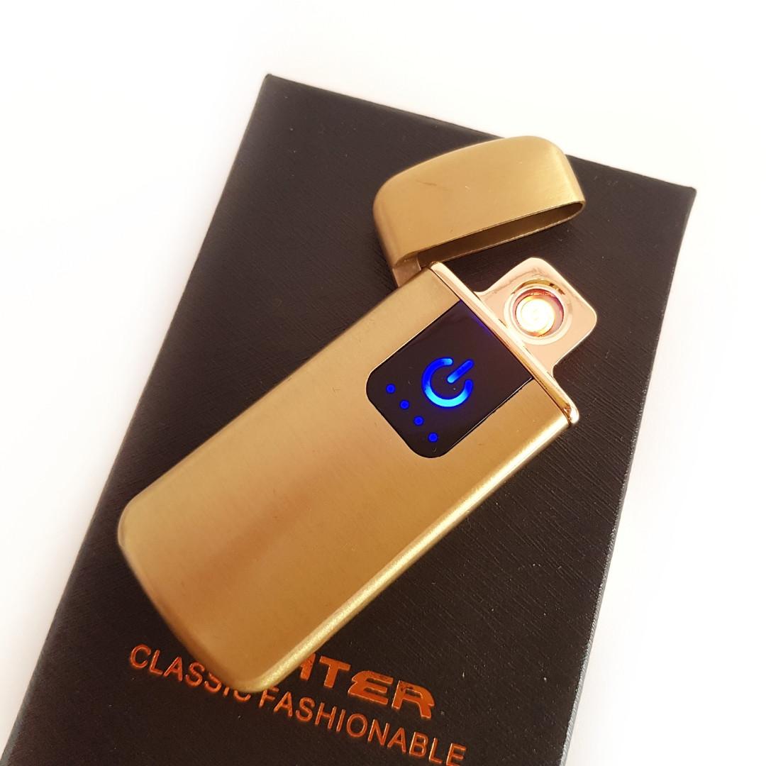 Зажигалка USB сенсорная электроимпульсовая,спиральная