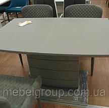 Стол ТММ-50-1 матовый серый 120/160x80, фото 3