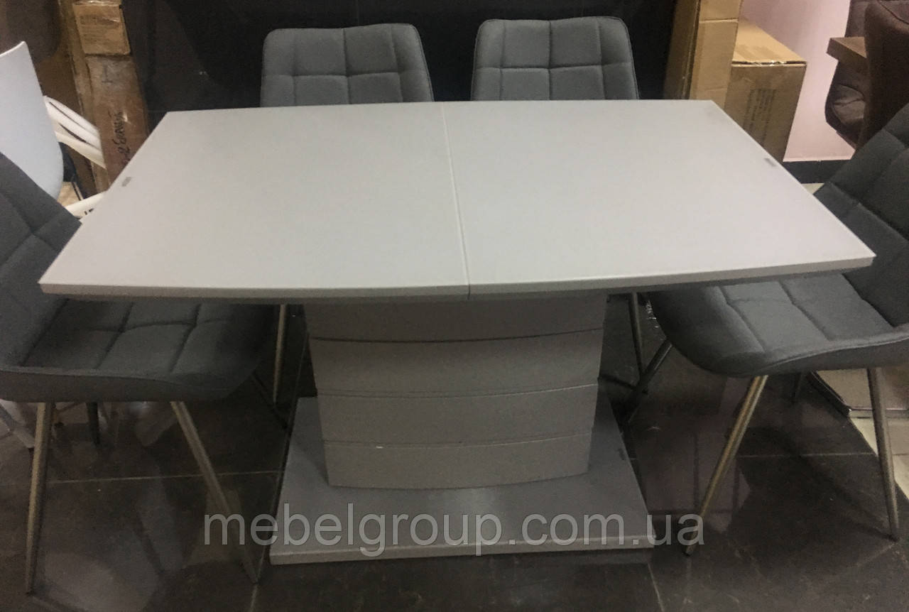 Стол ТММ-50-1 матовый серый 120/160x80
