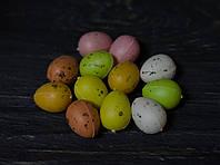 Різнокольорові яйця пластик набір 12 шт
