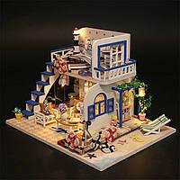 Домик для кукол в миниатюре DIY DOLLHOUSE (Голубой берег)