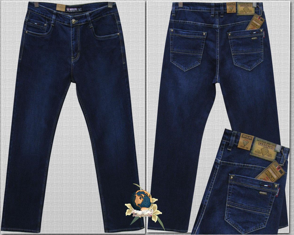 Джинси чоловічі прямі класичні темно-синього кольору Baron JNS 42 розмір