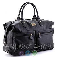 Мужская сумка David Jones black 3553, дорожная сумка для командировок, кожаная сумка для поездок, фото 1