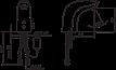 Смеситель для умывальника Oras Electronics 6120F бесконтактный, фото 2