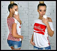 Футболка Кока-кола тельняшка