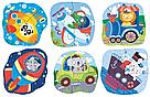 """Пазл 2-3-4 елементи """"Транспорт"""". Розвиваюча дітяча гра Dodo, фото 2"""