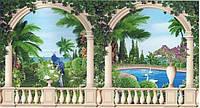 """Фотообои бумажные на стену, 201х388 см """"Сад Шахерезады"""", фотообои готовые, фотообои природа, 24 листа"""