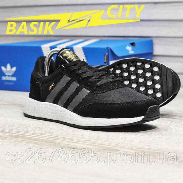 Мужские кроссовки Adidas Iniki Black Gray изображение
