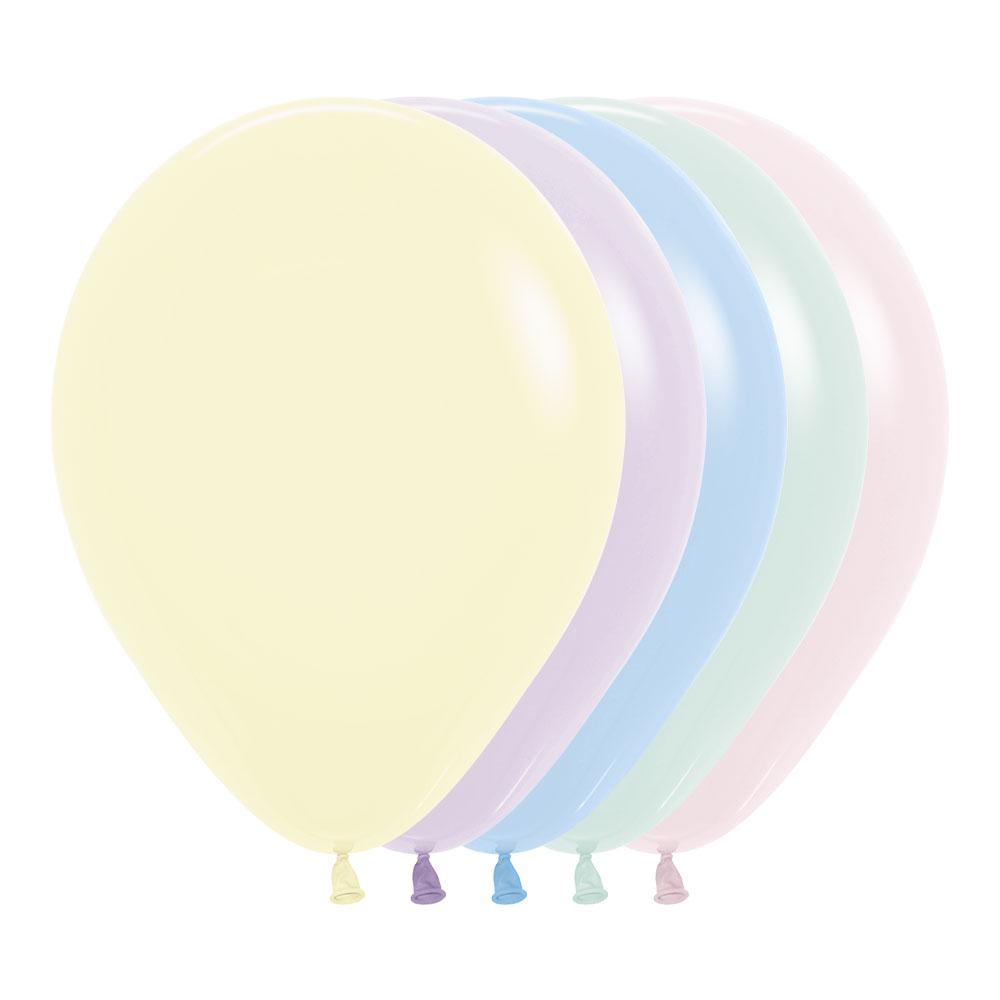"""Воздушные шары 12""""(30см) Матовый Ассорти В упак:100шт. TM Sempertex"""