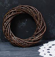 Венок из лозы коричневый 25 см