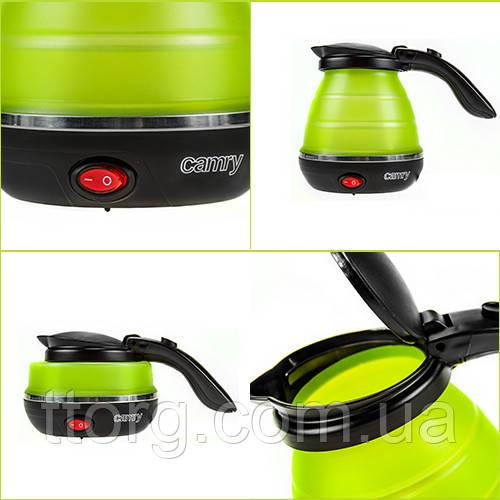 Camry CR 1265 0,5 л пластиковый чайник - силиконовый путешествия