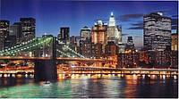 """Фотообои бумажные на стену, 194х335 см """"Ночной город"""", фотообои готовые, фотообои архитектура, 20 листов"""