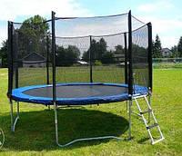 Батут Funfit диаметром 404см (13ft) для детей спортивный с лестницей и внешней сеткой