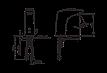 Бесконтактный смеситель для умывальника, 12V Oras Electra 6250F, фото 3